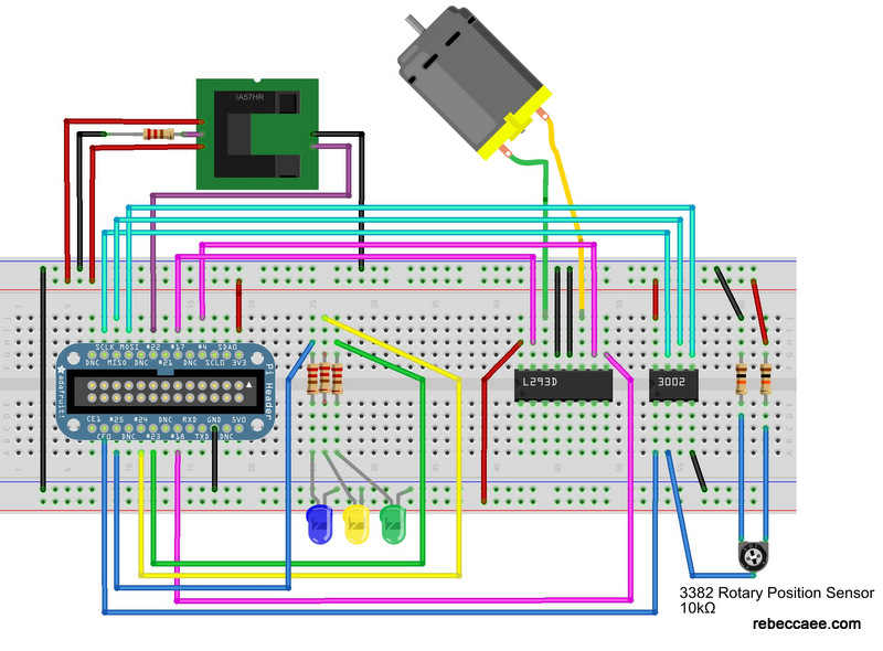 Breadboard layout for new kit