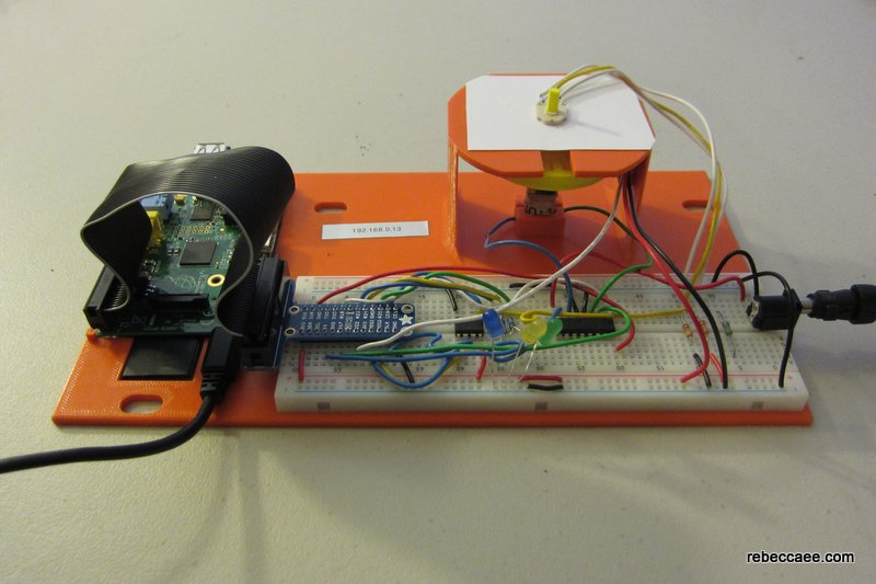 DC Motor laboratory kit with 3D printed parts and a Raspberry Pi