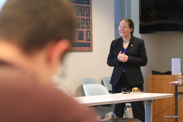 During my dissertation defense. Photo by: Daniel M. Reck